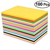 SUPVOX Pastels - Papel de copia (100 unidades, tamaño A4), diseño de arcoíris