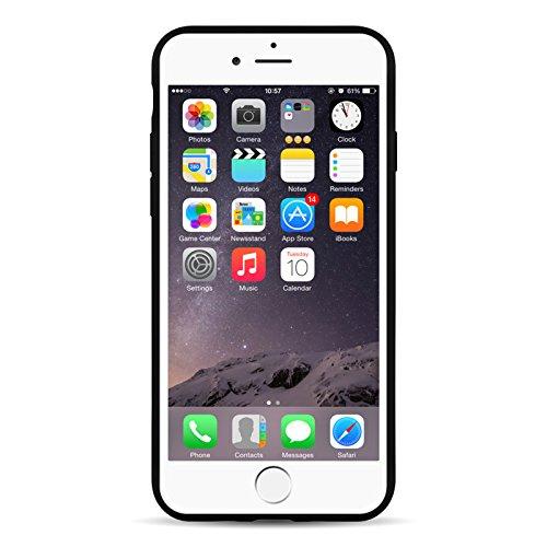 iPhone 8 Plus, iPhone 7 Plus Silikonhülle   JAMMYLIZARD Ultra Slim Skin Case Hülle 0.8mm [Jelly Cover] Schutzhülle aus mattem TPU-Silikon, Semi-Transparent SCHWARZ