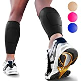 Calf Compression Sleeve By SPARTHOS (Pair) - Leg Compression Brace For Men And Women - Shin Splint Calf Pain Relief...