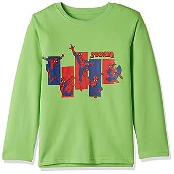 Marvel Spider-Man Boys' Sweatshirt (BD16-231AKTSWFS_Green_2/3)