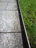 isskohli Rasenkante 1 m verzinkt Beeteinfassung Beetumrandung Mähkante Metall Palisade