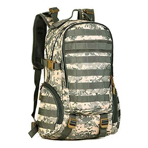 cinmaul Tactical Tagesrucksack Military Rucksack Gear MOLLE Student Schule Sport Tasche Assault Pack Rucksack für Camping Trekking Reise ACU Camouflage
