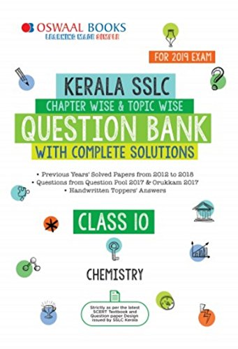 Oswaal Kerala SSLC Question Bank Class 10 Chemistry 2019 Exam: Chapterwise & Topicwise with solution