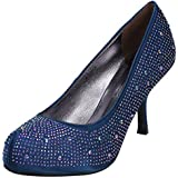 Ladies Anne Michelle Beaded Satin Court Shoe