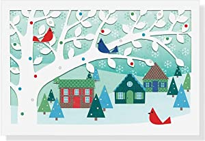 Village Birds Christmas Boxed Cards (Laser Cut Cards)(Christmas Cards, Greeting Cards) from Peter Pauper Press