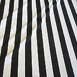 Stoff Baumwollstoff Meterware Blockstreifen schwarz weiß