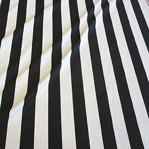 Stoff Schwarz Weiß Gestreift