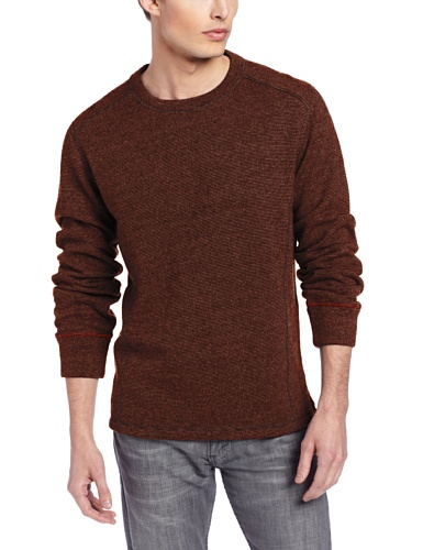 prAna–Herren Owen Crew Sweater, Herren, terracotta (Pullover Prana-wolle)