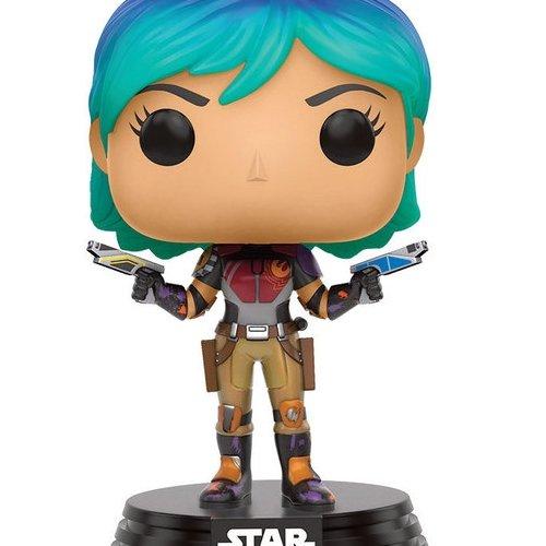 Funko 10773 POP Bobble: Star Wars: Rebels: Sabine, blau, Einheitsgröße