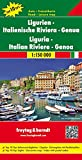 Freytag Berndt Autokarten, Ligurien - Italienische Riviera - Genua, Top 10 Tips - Maßstab 1:150.000 (freytag & berndt Auto + Freizeitkarten)