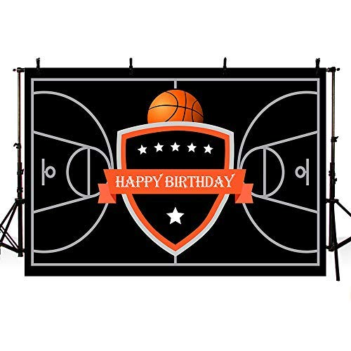 otiv Happy Birthday Fotografie Hintergrund Party Dekoration Basketball Court Stars Banner Foto Studio Hintergrund 17,8 x 152 cm ()
