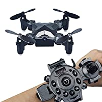 Koiiko WiFi FPV Drone with Camera, Watch Style Remote Control Pocket Drone 4CH 4Axis 2.4G Portable Foldable Mini RC Quadcopter Toy - Storage Case Box Included for Kids Birthday Present Christmas Gifts from koiiko