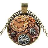 Ultra ® Watch Zahnräder Stil Classic Unisex Steampunk Halskette Great Style Unisex Gothic Cosplay Vintage Cyber Männer Frauen Schmuck Cosplay Schädel Zahnräder Designs