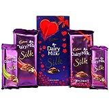 #9: Cadbury Dairy Milk Silk Roast Almond, Fruit & Nut & Special Valentine Pack Combo Chocolate, 647g