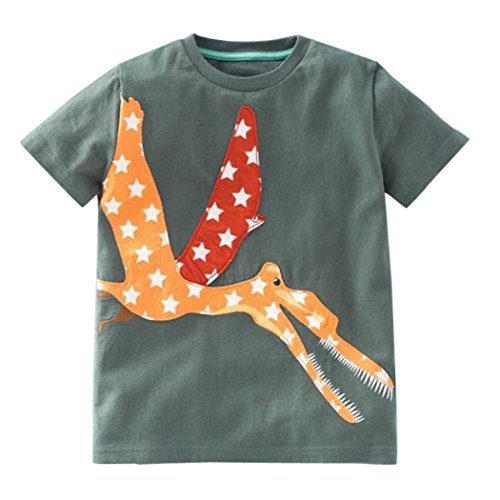 der Baby Jungen Mädchen Kleidung Kurzarm Cartoon Tops T-Shirt Bluse (Baby Tennis Kostüm)