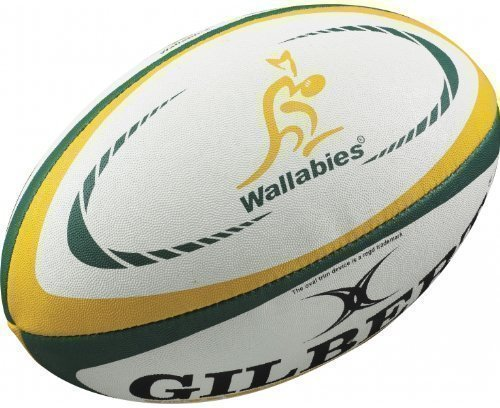 Gilbert - Australien Nationalmannschaft Replika Mini Rugby Ball - Weiß, Australien - Mini