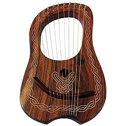 Tc Marke New Lyra Harfe 10String Rose Holz Mit Tragetasche Und Stimmschlüssel