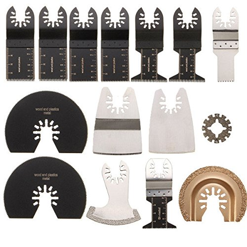 51EzN%2BSiyKL - NO.1 BEST POWER TOOL REVIEW Saver 15pcs Saw Blades Kit for Rockwell Sonicrafter Worx Oscillating Multitool Accessory COMPARE BUY PRICE UK