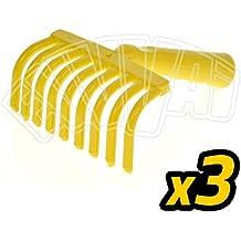 3 unidades – rastrellino 9 dientes para recoger aceitunas rastrillo peine manual olivo