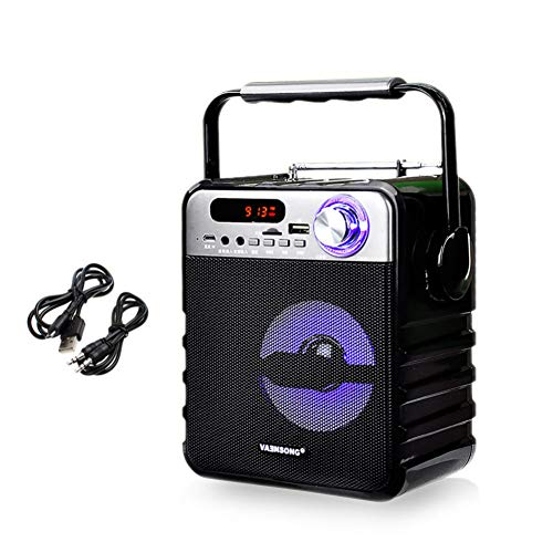 YJLOVK Bluetooth-Lautsprecher Tragbare drahtlose Bluetooth-Lautsprecher Stereo-Subwoofer Heavy Bass-Lautsprecher Column Soundbox-Unterstützung FM Radio TF (Fm-radio-basslautsprecher)