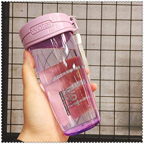 Damlonby Anti-choc facilement tasse en plastique de petit bol d'eau fraîche, violet