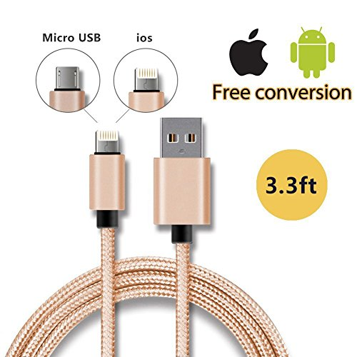 foshan-mingze-ios-android-lighting-3ft-reversible-micro-usb-gold-charging-cable-durable-nylon-braide
