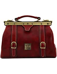 Tuscany Leather - Mallette médecin cuir - Rouge