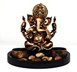 #6: Celebration™ Ganesh Ji With Decorative ROUND Tray Spiritual idols Decorative Puja / Vastu Showpiece Religious Pooja Gift item & Murti for Mandir ,Temple,Home Decor & Office