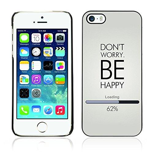 Cover rigida in gomma per Apple iPhone 5 e 5S-& Don't Worry Be Happy