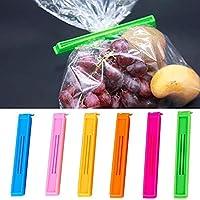 Snehalu 18pcs Home Kitchen Colorful Food Plastic Bag Seal Sealing Clip