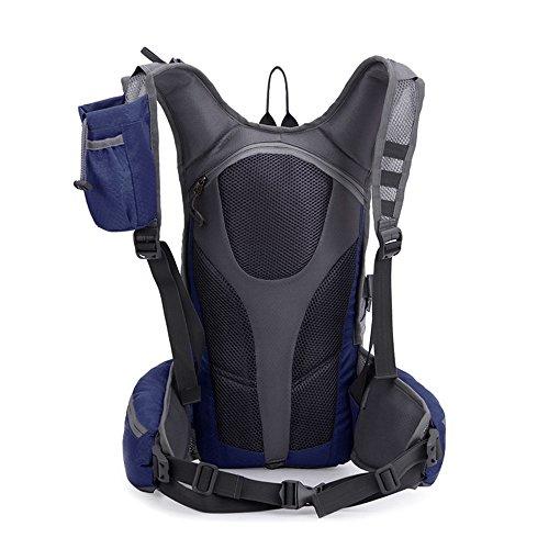 TXJ Wandern Klettern Rucksack Ultraleichte Wasserdichte Outdoor Wanderrucksäcke Radfahren Reiten Reisetaschen, 45 x 25 x 20 cm, 25L (Schwarz) marineblau