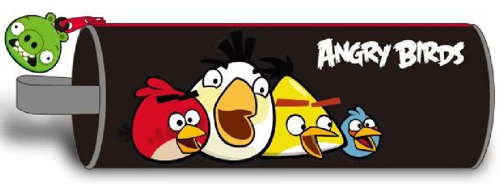 Angry Birds 7598100-wop – Estuche redondo con diseño de pájaros, color negro