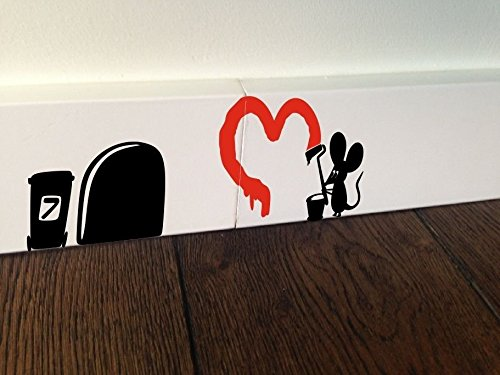 te, Maus Graffiti Herz, Wandaufkleber, selbstklebend (Diy-cornhole-set)