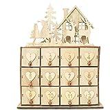 Augproveshak Weihnachtskalender Aufbewahrungsbox Holzkiste Sonntag Weihnachtsdekoration Dekorative Ornamente sonniges Aufbewahrungsbox Schmuckbox