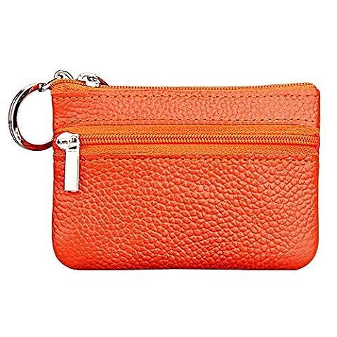 Japace® Women Men Ladies Genuine Leather Mini Coin Pouches Key