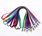 Leisial. 5pcs Colgantes Cordón para Cuello - Acollador con Hebilla de Hierro para Teléfonos Móviles/Permiso de Trabajo/Clave/Llavero/Tarjeta de Estudiante (Color Aleatorio)