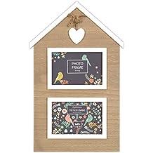 Innova design PI 06407 Maison Immagine Sweetheart Cornice 2 foto, legno, 10 x 15 cm, marrone