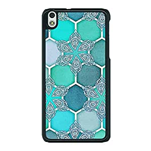 Jugaaduu Floral Hexagons Pattern Back Cover Case For HTC Desire 816 Dual Sim