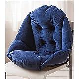Qchomee Sitzkissen Sofa Sessel Plüsch Pads Booster Kissen Dicke Baumwolle Auto Sitzkissen mit Gurten Esszimmer Garten Küche Stuhl Kissen Polster Stuhl Sitzkissen Marineblau