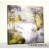 Waldlichtung - Romantische Fotografie - Leinwanddruck - 20 x 20cm