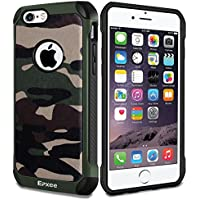 Epxee Funda iPhone 6, Funda iPhone 6S, Silicona [Shock-Absorción] Case Carcasa para Apple iPhone 6/6S (Camuflado-001)