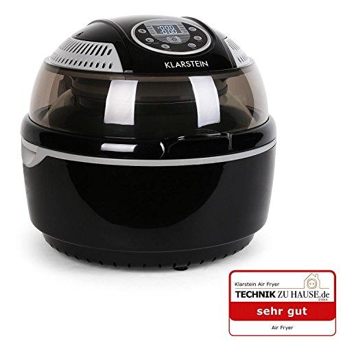 Klarstein VitAir Fryer friggitrice ad aria calda senza olio (fritto senza grassi, funzione grill e forno, 9l, 1400W ) - nero