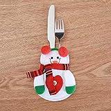 4 PEZZI Natale tappi Posate Titolare Forchetta Cucchiaio Tasca Natale arredamento Borsa