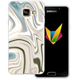 Mobilefox Liquid transparente Silikon TPU Schutzhülle 0,7mm dünne Handy Soft Case für Samsung Galaxy A3 (2016) Liquid Braun Gold - Verlauf Hülle Cover