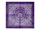 Alsino Bandana Zandana Kopftuch Halstuch verschiedene Muster 100% Baumwolle, wählen:lila weiß 159