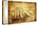 Leinwandbild Vintage Sailing - Fertig Aufgespannt - Gemälde, Kunstdruck, Wandbild, Keilrahmen, Bild auf Leinwand von Trendwände - Format: 60x40cm, Standard: Vlies-Leinwand 2cm Rahmen