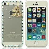 iPhone 5 Hülle, iPhone 5 case,3D Bling Diamant-Schmuck 1 Designhartplastik -Schutzhülle für das iPhone5 5S 5G (Yellow)