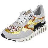A.S.98 Sneaker in Hellgrau/senf-Gold as-647104-0101