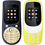 I Kall 1.8 Inch Mobile Combo Of K3310 And K18 New (Yellow And Dark Blue)