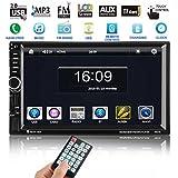 Autoradio Bluetooth, Footprintse Auto Radio Double Din 7 Pouces Ecran Tactile- GPS Navigation- MP3 MP5 Radio Lecteur- Caméra de Recul -Multimédia Player Stéréo 2 Din